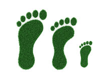 Foot print Concept. 3D Rendered Image Stock Images