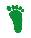 foot print green isolated icon design Royalty Free Stock Photos