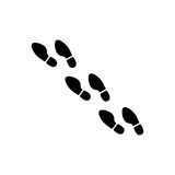 Foot print icon Royalty Free Stock Photo