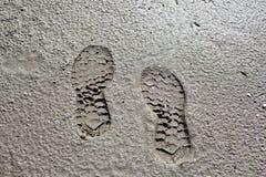Foot print on mold Royalty Free Stock Photos