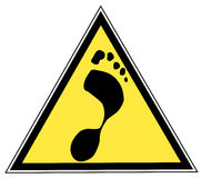 Foot print sign Stock Images