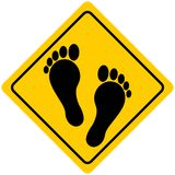 Foot Print Sign Royalty Free Stock Image