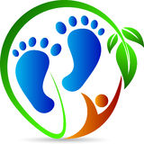 Foot print. A vector drawing represents foot print design stock illustration