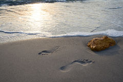 Foot prints. Stock Photo
