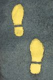 Foot Prints. On Path Royalty Free Stock Photos