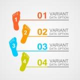 Foot prints info. Art leg. Vector illustration Royalty Free Stock Photo