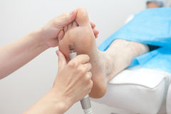 Foot procedure Royalty Free Stock Photos