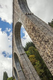 At the foot of the railway bridge. Over the Ravenna Gorge in the Black Forest Stock Photography