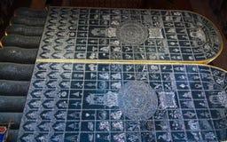 Foot of Reclining Buddha at Wat Pho Royalty Free Stock Image