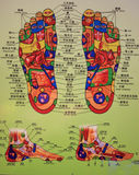 Foot Massage Chart. Foot Massage Reflective Schematic Chart for massage or spa Stock Photo
