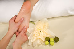 Foot reflex zone massage Royalty Free Stock Photo