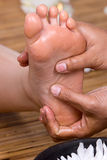 Foot reflexology Royalty Free Stock Photo