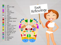 Foot reflexology chart Royalty Free Stock Images