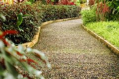 Foot Reflexology Path. In garden Stock Image