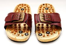 Foot reflexology shoes Stock Photos