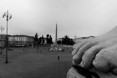 The foot of Rome. View of Piazza del Popolo stock photos