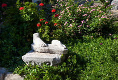 Foot of ruined statue in Bodrum Royalty Free Stock Photos