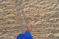 A Foot In The Sand Royalty Free Stock Photography