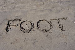 Foot on sand Royalty Free Stock Image
