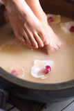 Foot scrub, pedicure Royalty Free Stock Images