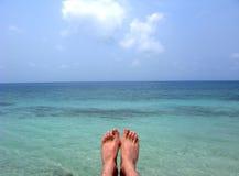 Foot in sea Stock Photo