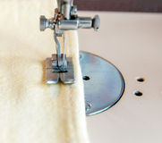 Foot sewing machine for fabric Stock Photo