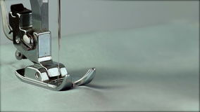 Foot Sewing Machine Works stock video footage