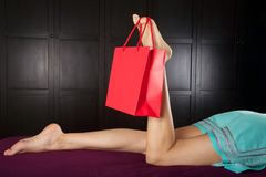Foot shopping royalty free stock photography
