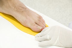 Foot Size Measuring Stock Photo