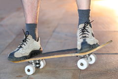 Foot and skateboard Stock Photography