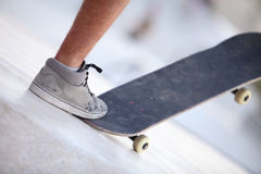 Foot and skateboard Royalty Free Stock Photos