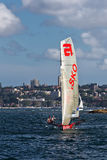18 foot skiffs on Sydney Harbour Stock Images