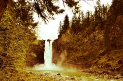 Foot of Snoqualmie Falls Stock Photo