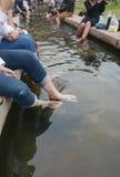 Foot soak onsen, Chiang Mai , Thailand Royalty Free Stock Image