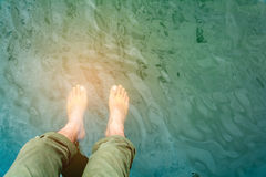 Foot soak to relax Royalty Free Stock Images