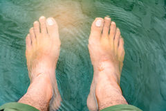 Foot soak to relax Stock Photos