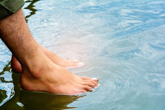 Foot soak to relax Stock Photography