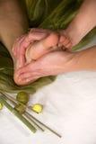 Foot sole massage Stock Photo