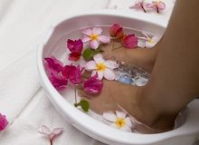 Foot spa Stock Photos