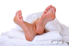 Foot in SPA Royalty Free Stock Images