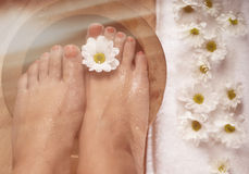 Foot Spa Background Stock Photo