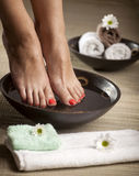 Foot Spa Background Stock Photography
