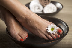 Foot Spa Background Stock Photos