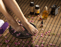 Foot Spa Treatment Royalty Free Stock Images