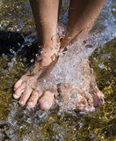 Foot splash Stock Image