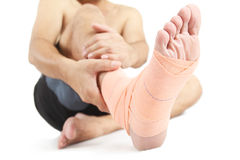 Foot sprain Stock Photos