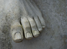 Foot of Statue Stock Images
