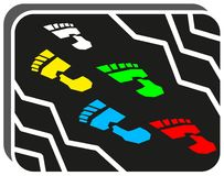 Foot step Stock Images
