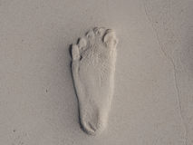 Foot Step on Sand Stock Photo