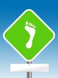 Foot step sign Stock Photos